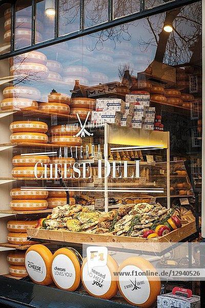 Netherlands Amsterdam-Cheese Deli.