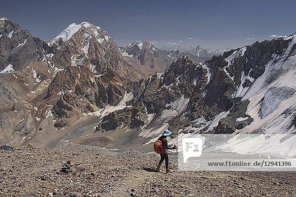 The stunning Fann Mountains seen from the Chimtarga Pass route  Tajikistan.