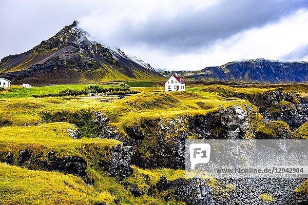 House in Hellnar  Snaefellsnes peninsula  Iceland.