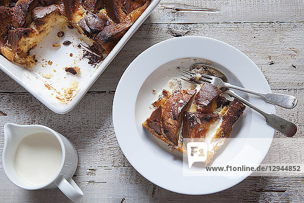Bread And Butter Pudding mit Panettone