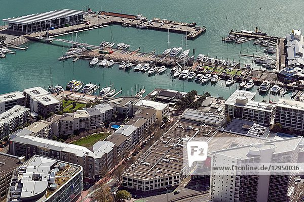 Aerial view of Auckland New Zealand.