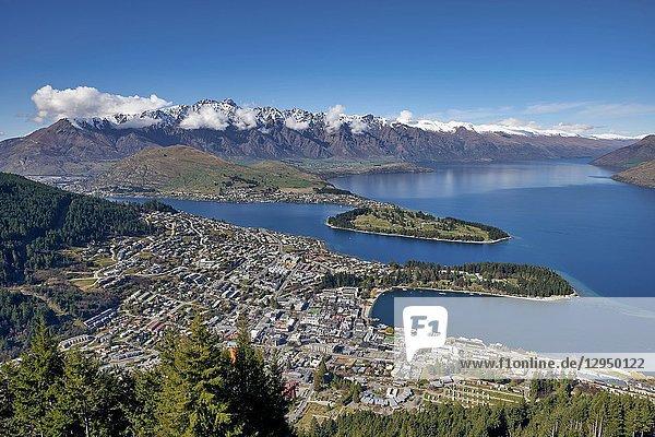 Queenstown Lake Wakatipu. Otago New Zealand.