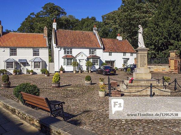 War memorial in Hall Square at Boroughbridge North Yorkshire England.