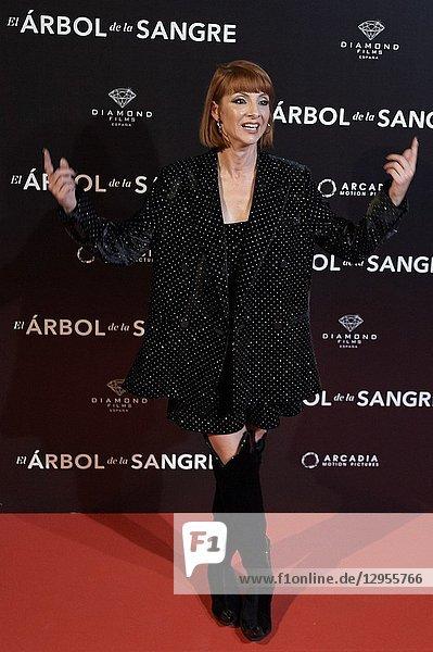 Najwa Nimri attends 'El árbol de la sangre' premiere at Capitol Cinema on October 24  2018 in Madrid  Spain