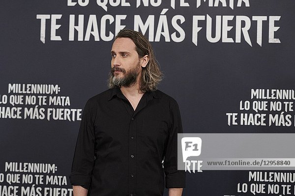 Fede Alvarez attends 'The Girl in the Spider's Web' photocall at Villamagna Hotel on October 30  2018 in Madrid  Spain