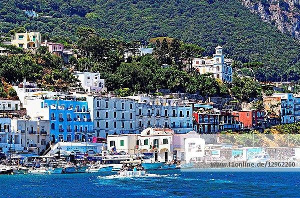 Marina Grande On The Island Of Capri  Italy.
