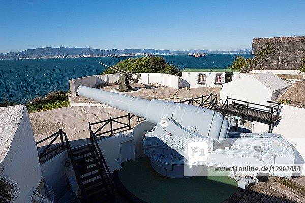 Gibraltar  100 ton gun dating from 1880's at Napier of Magdala Battery  Rosia Bay