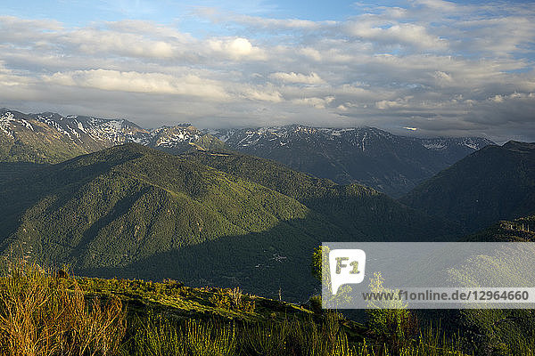 France  Ariege  view over Pyrenees Mountains from Signal de Chioula