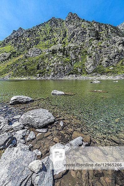 France  Pyrenees National Park  Occitanie region  Val d'Azun  Haute-vallee d'Estaing  lake of Plaa de Prat 1 656m