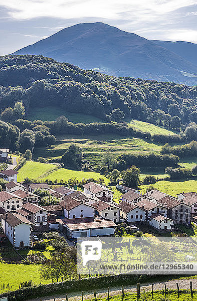 Spain  Navarre  Baztan valley  Amaiur village in the countryside (Way of Saint James)