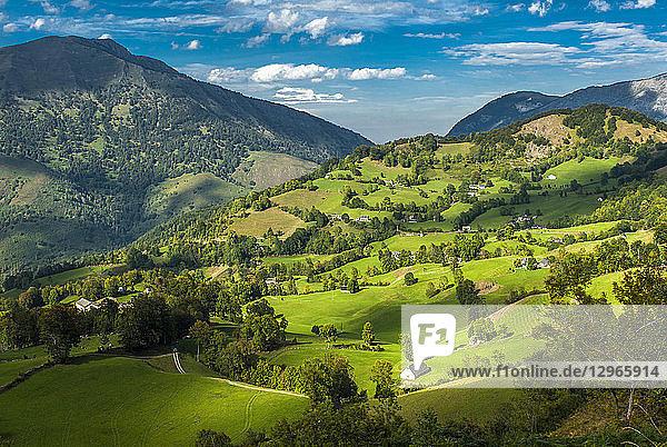 France  Pyrenees National Park  Occitanie region  Val d'Azun  Ouzoum valley near Arbeost