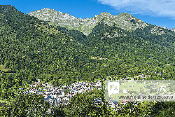 France  Pyrenees Ariegeoises Regional nature Park  Garbet Valley  Oust village