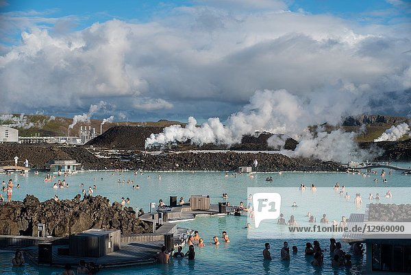 Thermal waters in Iceland. The renowned Blue lagoon.