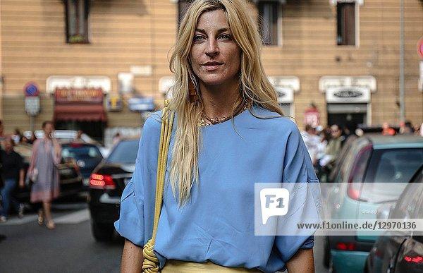 MILAN  Italy- September 19 2018: Ada Kokosar on the street during the Milan Fashion Week.