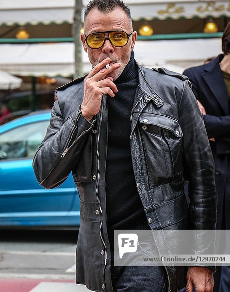 PARIS  France- March 3 2018: George Cortina on the street during the Paris Fashion Week.