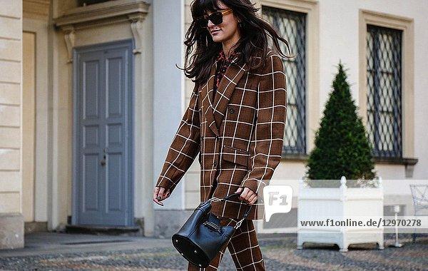 MILAN  Italy- September 21 2018: Eleonora Carisi on the street during the Milan Fashion Week.