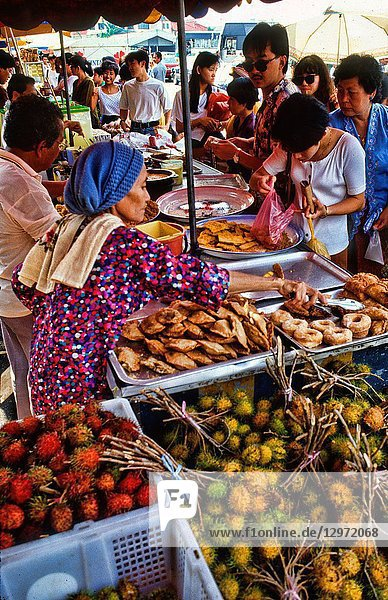 Malaysia Kuala Lumpur food market outdoors food vendors