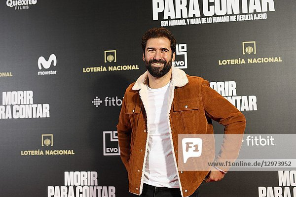 JORGE CREMADES  teaching professor. The premiere of the Official Section of the documentary MORIR PARA CONTAR at the Madrid Premiere Week. Hernán Zin  the director  interviews other journalists and asks them about their traumas  their losses  their fears and their families on Nov 13  2018 in Madrid  Spain