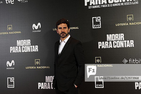 HERNAN ZIN  the director. The premiere of the Official Section of the documentary MORIR PARA CONTAR at the Madrid Premiere Week. Hernán Zin  the director  interviews other journalists and asks them about their traumas  their losses  their fears and their families on Nov 13  2018 in Madrid  Spain