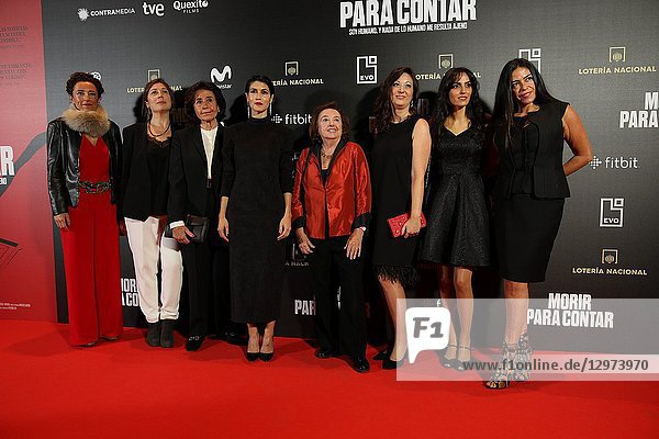 The premiere of the Official Section of the documentary MORIR PARA CONTAR at the Madrid Premiere Week. Hernán Zin,  the director,  interviews other journalists and asks them about their traumas,  their losses,  their fears and their families on Nov 13,  2018 in Madrid,  Spain
