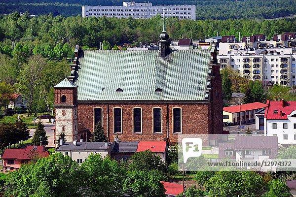 Feast of the Cross Church seen from Jasna Gora  Czestochowa  Silesian Voivodeship  southern Poland  Poland  Europe