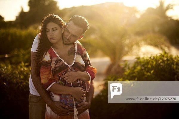 Happy Young couple outdoors. Chersonissos  Crete  Greece