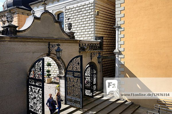 Gate to Wieczernik - upper room  Jasna Gora - most famous Polish pilgrimage site  sanctuary of Our Lady of Czestochowa - Queen of Poland and the Pauline monastery  National Shrine  the spiritual capital of Poland  Czestochowa  Silesian Voivodeship  southern Poland  Poland  Europe