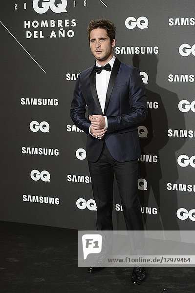Diego Boneta attends GQ Men of the Year Awards 2018 at Palace Hotel on November 22  2018 in Madrid  Spain