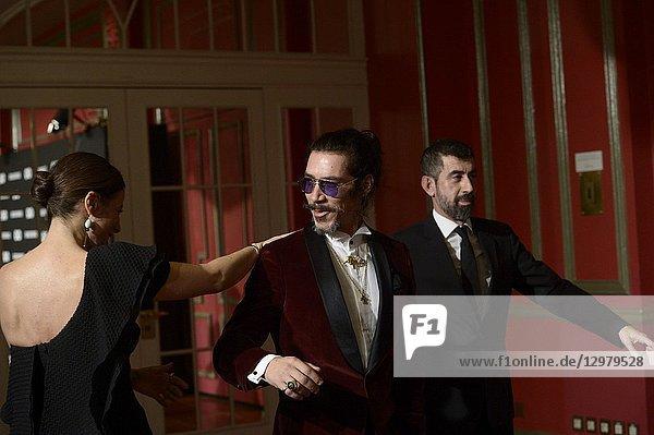 Oscar Jaenada attends GQ Men of the Year Awards 2018 at Palace Hotel on November 22  2018 in Madrid  Spain