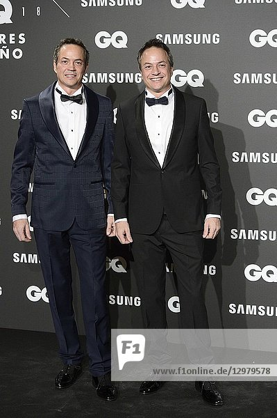 Javier Torres  Sergio Torres attends GQ Men of the Year Awards 2018 at Palace Hotel on November 22  2018 in Madrid  Spain