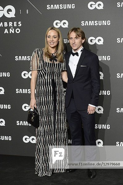 Luca Modric  Vanja Bosnic attends GQ Men of the Year Awards 2018 at Palace Hotel on November 22  2018 in Madrid  Spain