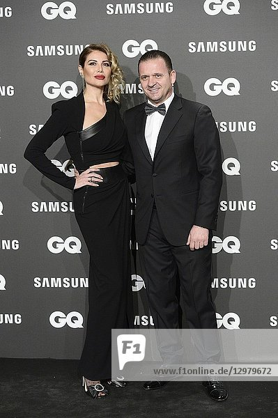 Pedja Mijatovic  Aneta Milicevic attends GQ Men of the Year Awards 2018 at Palace Hotel on November 22  2018 in Madrid  Spain