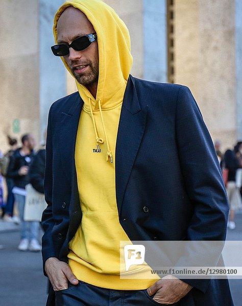 PARIS  France- September 26 2018: Simon Rasmussen on the street during the Paris Fashion Week.