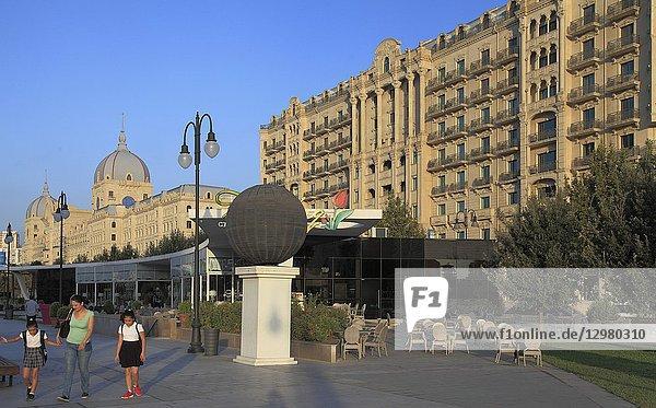 Azerbaijan  Baku  Fuzuli Street  historic architecture .