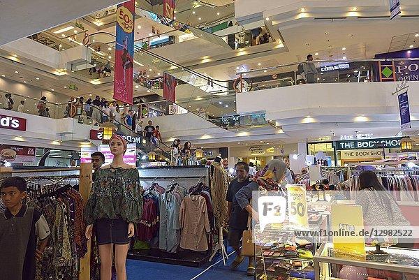 Shopping mall on Malioboro Street  major shopping street in Yogyakarta  Java island  Indonesia  Southeast Asia.