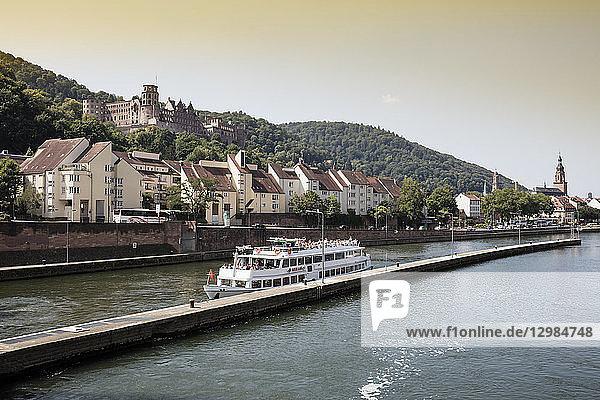 Germany  Baden-Wuerttemberg  Heidelberg  Neckar river  Heidelberg Castle