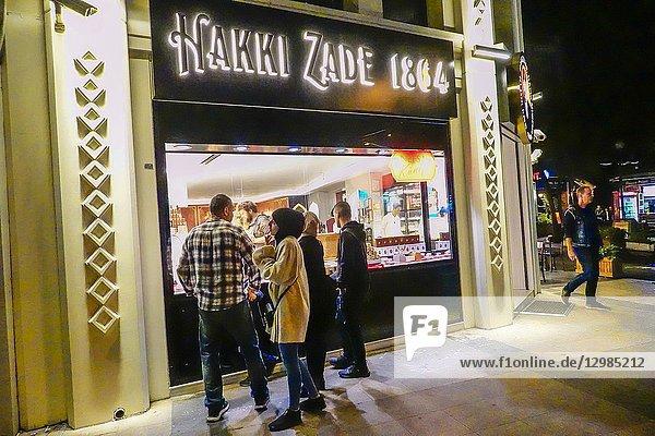 Istanbul  Turkey A candy shop or Turkish Delight shop on Divan Yolu Cd Street.
