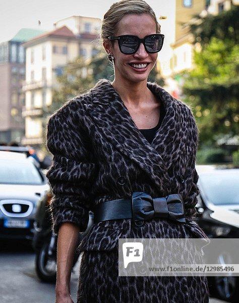 MILAN  Italy- September 20 2018: Micol Sabbadini on the street during the Milan Fashion Week.