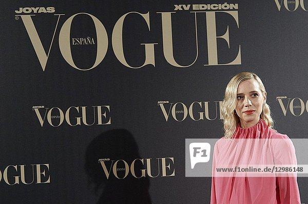 Lulu Figueroa attends Vogue joyas awards photocall at Madrid at Palacio de Santoña on November 29  2018 in Madrid  Spain