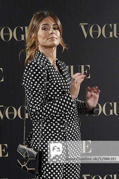 Coral Simanovich attends Vogue joyas awards photocall at Madrid at Palacio de Santoña on November 29  2018 in Madrid  Spain