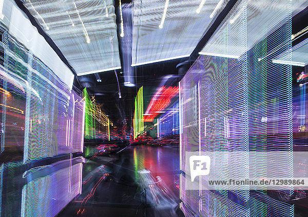 Lichteffekte in einem Raum