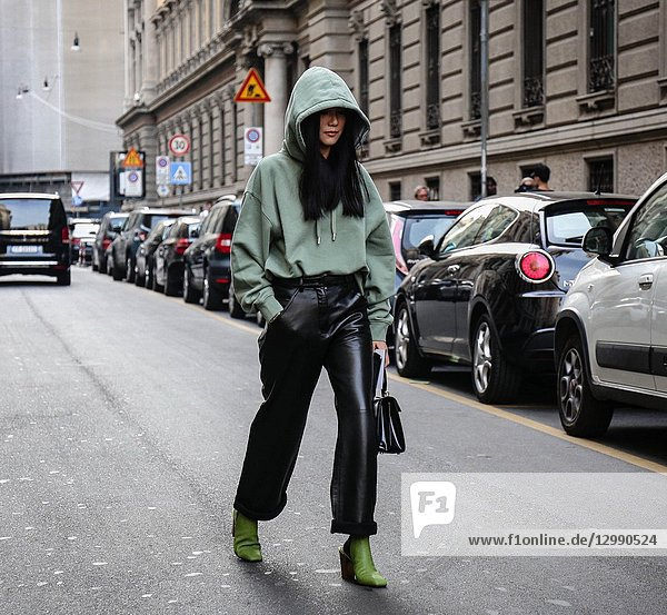 MILAN  Italy- September 22 2018: Yoyo Cao on the street during the Milan Fashion Week.