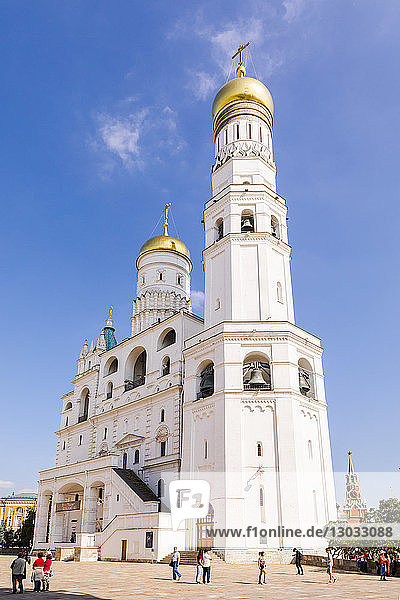 Ivan the Great Bell Tower in the Kremlin  UNESCO World Heritage Site  Moscow  Russia