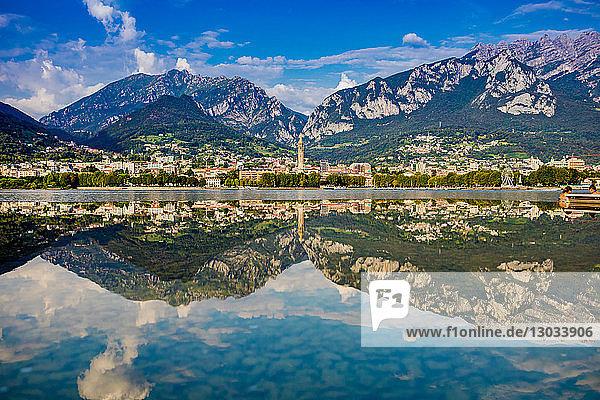 Scenic view from Castello di Rossino  Lake Como  Italian Lakes  Lombardy  Italy