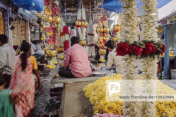 Devaraja flower market  Mysore  Karnataka  India