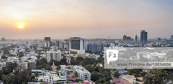 City skyline  Bangalore (Bangaluru)  capital of the state of Karnataka  India