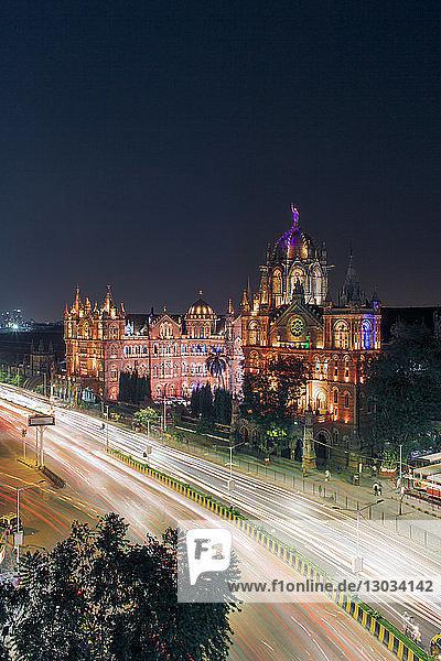 Chhatrapati Shivaji Maharaj Terminus railway station (CSMT)  formerly Victoria Terminus  UNESCO World Heritage Site  Mumbai  Maharashtra  India