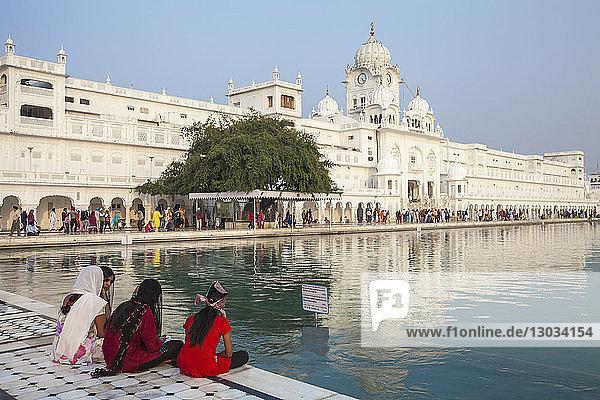 Sikhs at The Harmandir Sahib (The Golden Temple)  Amritsar  Punjab  India