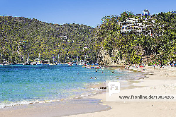 Princess Margaret Beach  Bequia  The Grenadines  St. Vincent and The Grenadines  West Indies  Caribbean