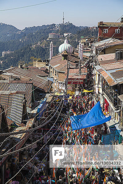 Lower Bazaar  The Mall  Shimla (Simla)  Himachal Pradesh  India